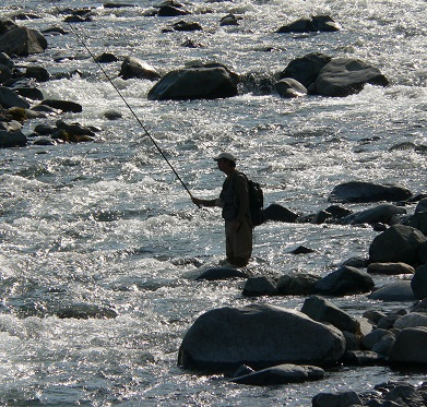 fishing riverside
