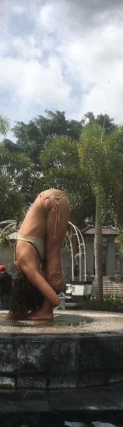 yoga pose indonesia