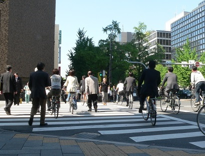 city cycling Osaka