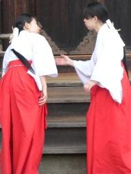 miko, kyoto shrine