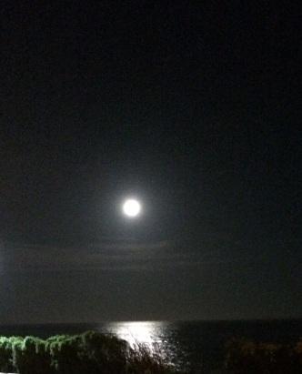 night moon over oiso