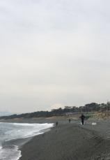 Oiso beach, fishermen