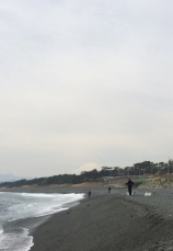 Oiso beach, fishermen